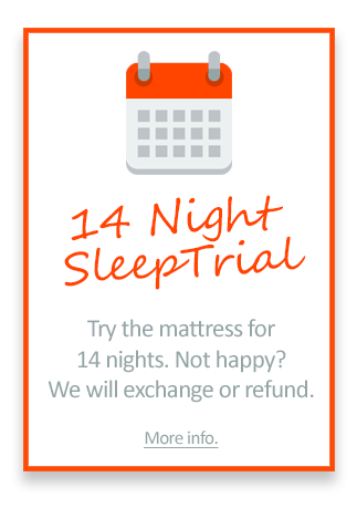 14 Night Sleep Trial on all Mattresses!