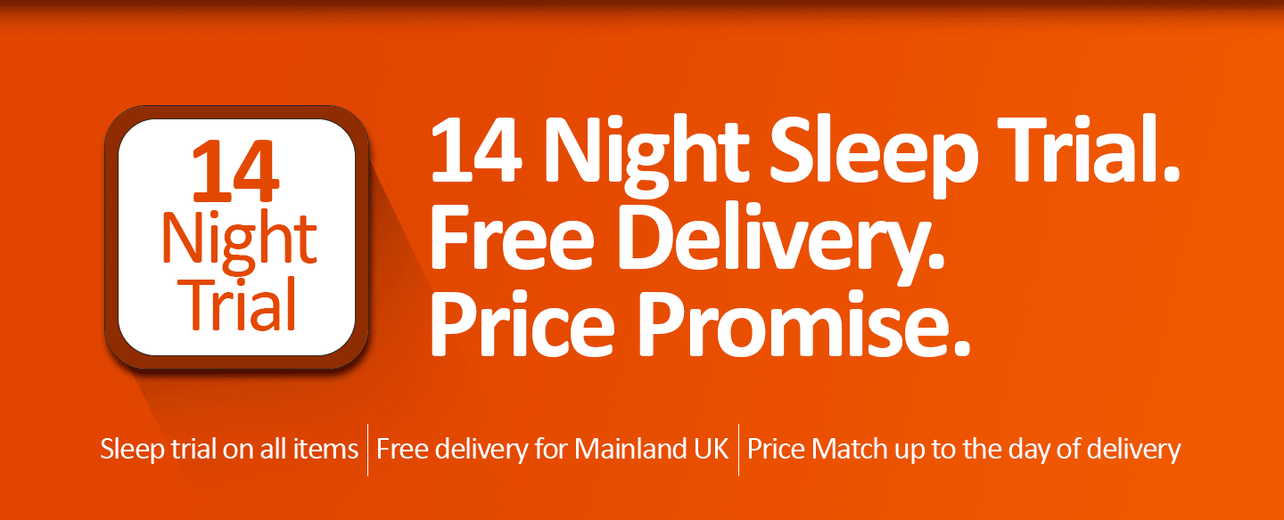 Buy Mattresses Online - 14 Night Sleep Trial, Free Delivery and Price Promise