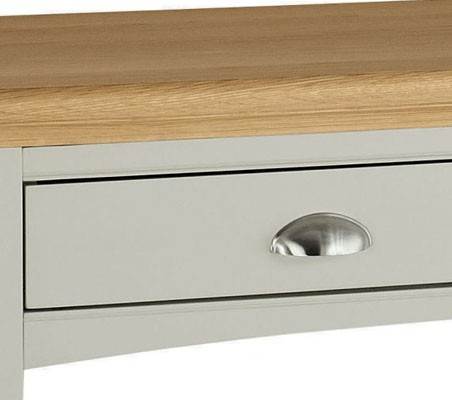 40863bd5160a Bentley Designs Hampstead Soft Grey And Pale Oak Dressing Table
