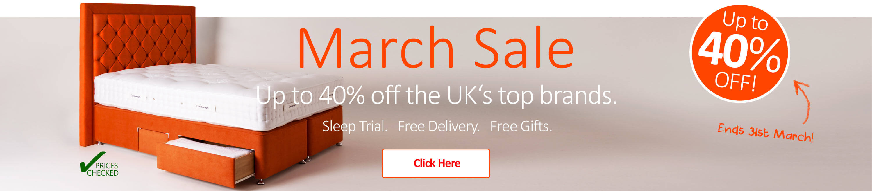 Huge Savings on all Mattresses this March!