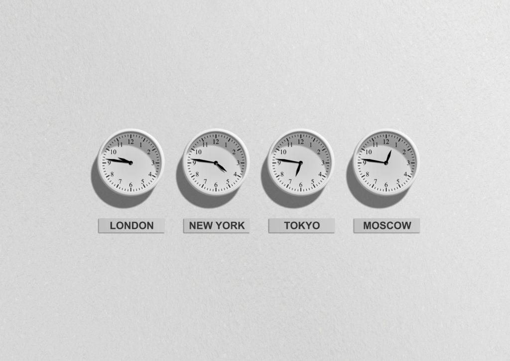 crossing time zones