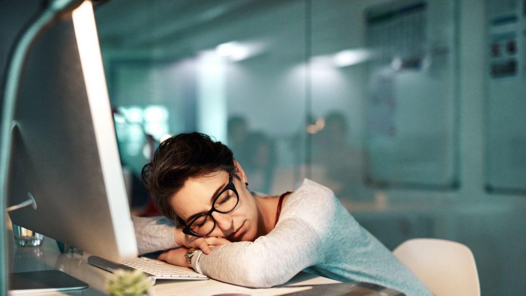 power nap at desk